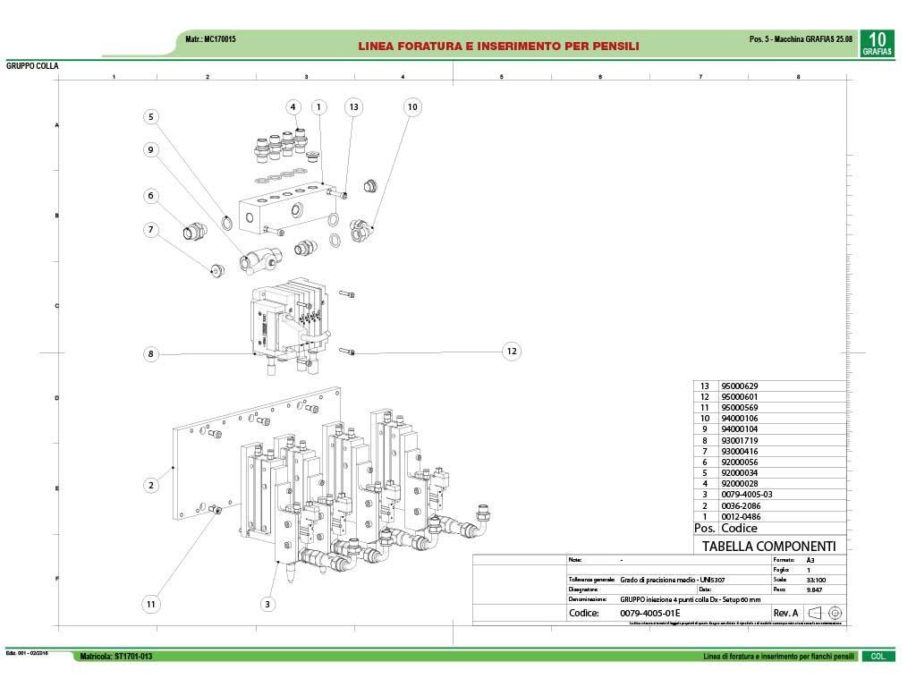 comunicazione tecnica cataloghi ricambi linea foratura